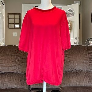 🔥3/$18 Only Necessities Red Short Sleeve Blouse